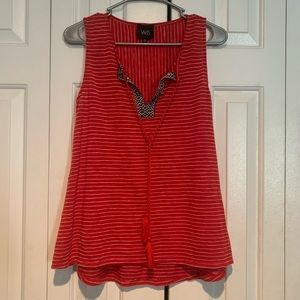 Anthropologie w5 red embroidered tank top